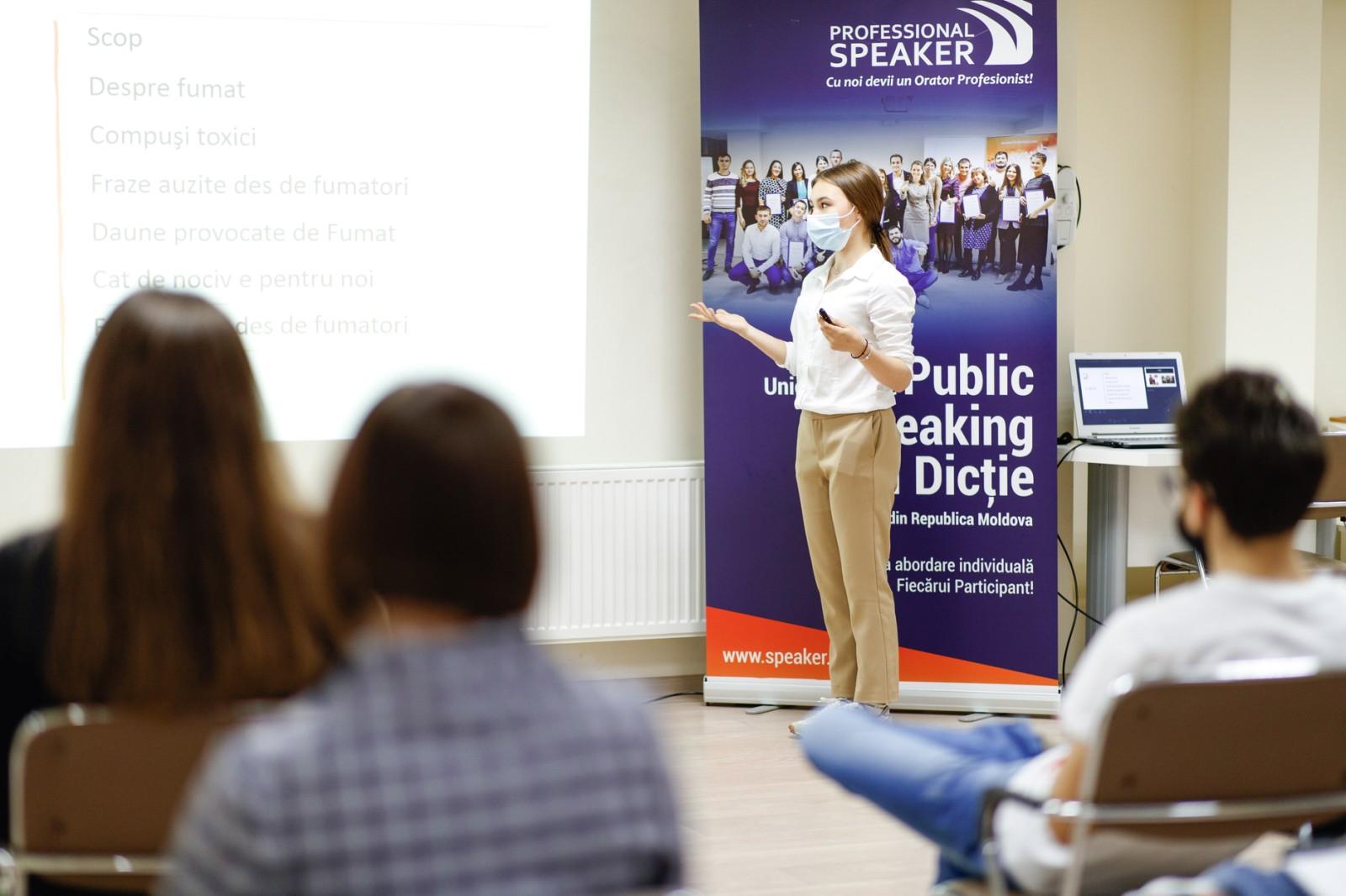 Cursul de Public Speaking